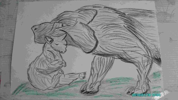 Mon dessin le loup et l agneau artistepeintrepleinitude - Dessin loup et agneau ...