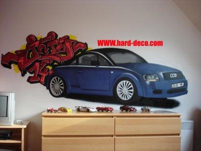 D co voiture chambre graffiti d coration graffiti graffeurs professionnels - Decoration chambre voiture ...