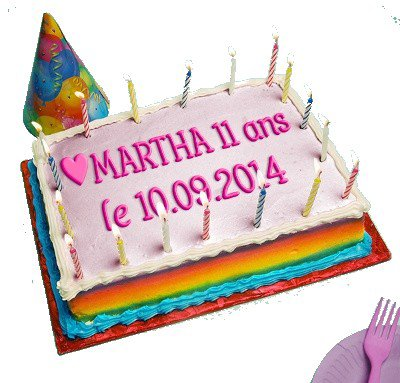(l) (l) ANNIVERSAIRE DE MARTHA (l)  (l)
