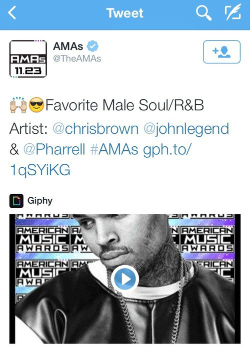Nominations pour Chris Brown aux American Music Awards