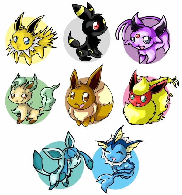 Famille d 39 evoli pokemons cute - Pokemon famille d evoli ...