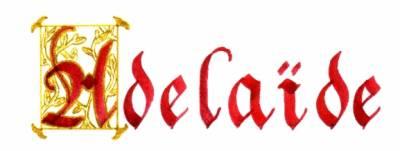 Ad la de ton pr nom en calligraphie - Adelaide prenom ...