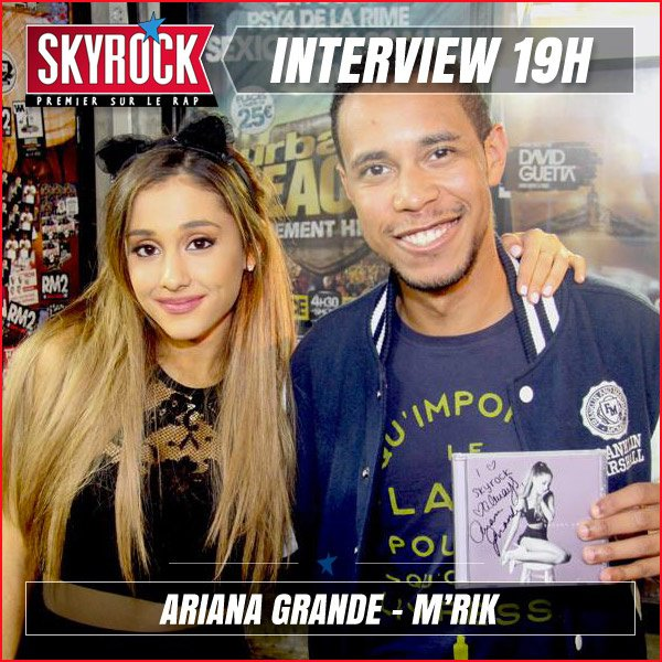 Ariana Grande en Interview avec M'rik � 19h !