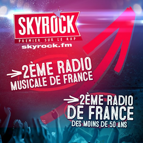 Skyrock, 2�me radio musicale de France !