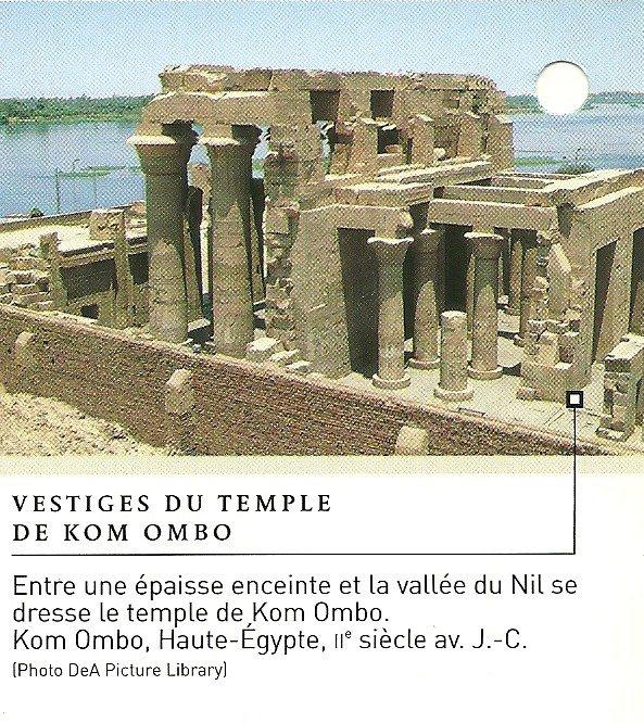 sites et monuments gyptien n 10 kom ombo le temple de sobek et horus richesses d 39 afrique. Black Bedroom Furniture Sets. Home Design Ideas