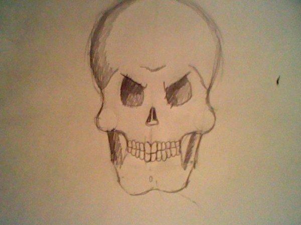Comment dessiner une t te de mort mes dessins moi - Dessiner une tete de mort ...