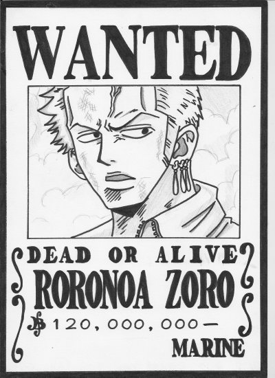 Roronoa zoro peace rainbow hapiness - Coloriage one piece wanted ...