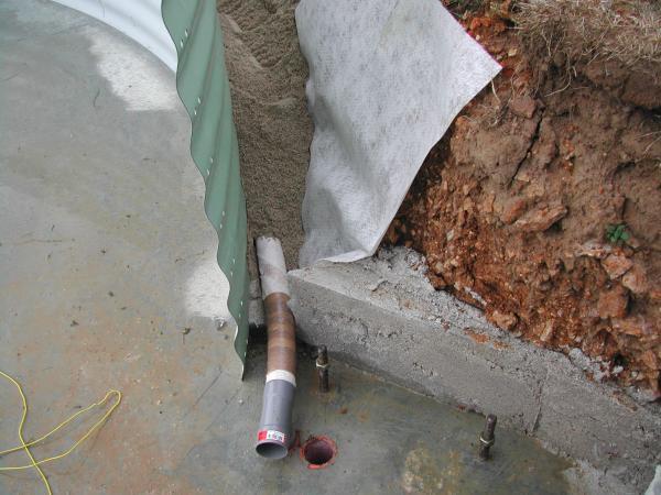 Pose du drain p riph rique ma piscine waterair sa - Plan de drainage maison ...