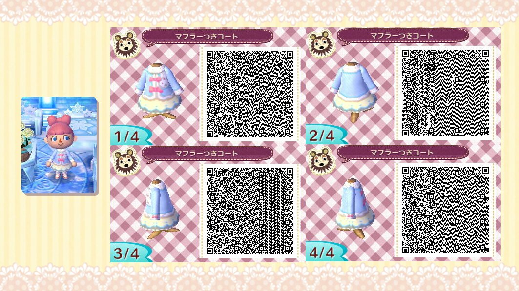 QR codes - Hiver n  176 1Qr Codes Animal Crossing New Leaf Dresses