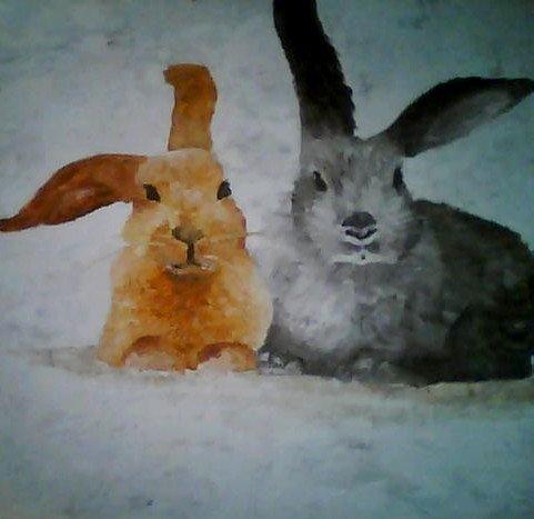 Peinture lapin mary - Patte de lapin peinture ...