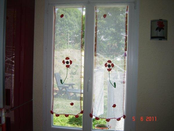 rideaux pour ma cuisine mes creations au crochet. Black Bedroom Furniture Sets. Home Design Ideas