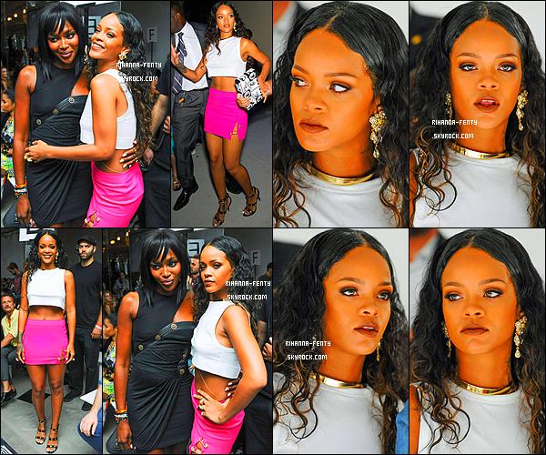 _ 07/09/2014 : Notre Rihanna Fenty s'est rendue au d�fil� � Edun � puis � Versace � � New York. Qu'en pense-tu ?