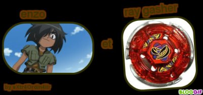 les personnages de beyblade m�tal masters �quipe Garcias ( Br�sil)