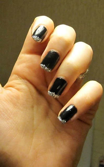 ongle noir avec strass blog de caro beauty nails. Black Bedroom Furniture Sets. Home Design Ideas