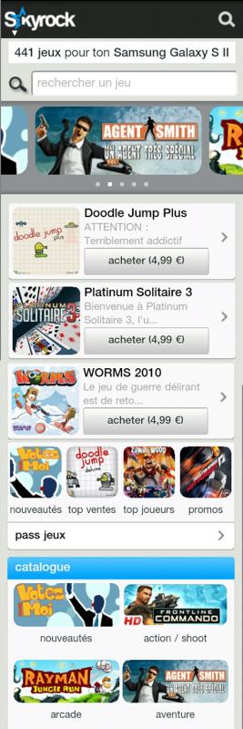 Exclusivit� mobile ! D�couvre tous les jeux vid�os du moment sur ton mobile !