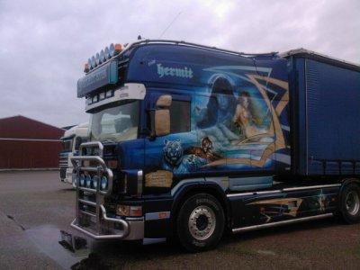 Longline janatrans avant et apres kan sth la rachete domage d avoir gach c belle peinture sa va - Decoration interieur camion ...