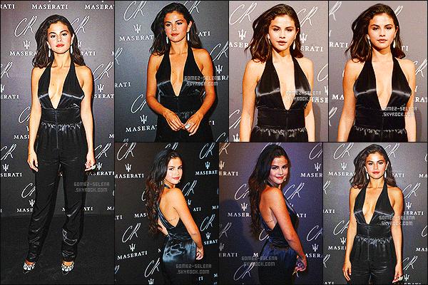 . 30/09/2014 -  Selena Gomez, �tait � la � CR Fashion Book Issue No.5 : Launch Party hosted  � � Paris. La soir�e a eu lieu dans le Peninsula Hotel. D'autres c�l�brit�s et ami(e)s de S. �taient pr�sents comme  Cara Delevingne, Justin Bieber et d'autres. .