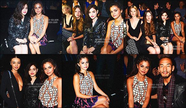 . 01/10/2014 - Toute sublime, Sel Gomez �tait pr�sente au d�fil� � Louis Vuitton � � la Fashion Week, Paris. Nous la voyons tout d'abord  arrivant - Puis assistant au d�fil� - Ensuite nous la retrouvons dans les coulisses cliquez ici: photo, qu'en pensez-vous? .
