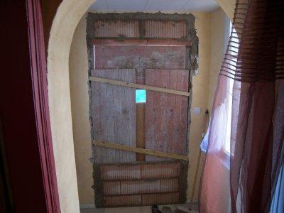 brique de verre d pose ancienne porte d 39 entr e