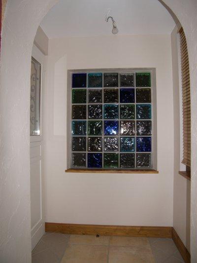 Brique de verre d pose ancienne porte d 39 entr e - Fenetre fibre de verre ...