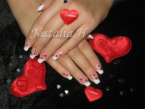 Les ongles st valentin gel french vernis d co en peinture blog de ongle natalia - Ongle st valentin ...