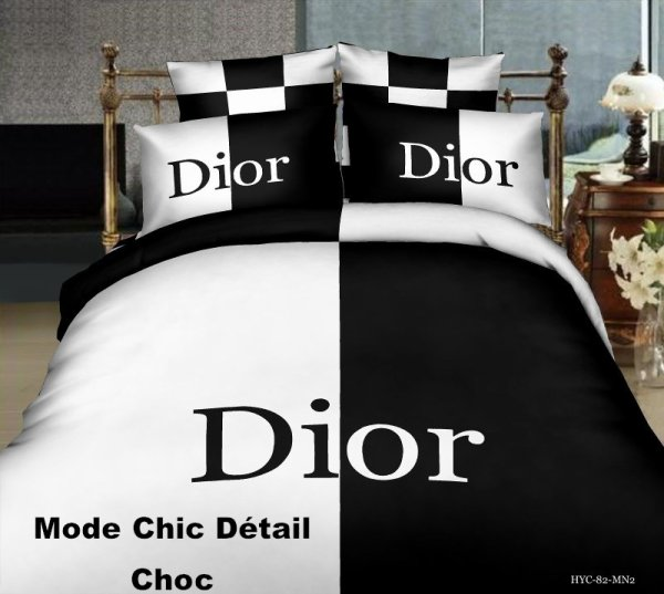 housse de couette dior 4 pi ces 280 mode chic d tail choc. Black Bedroom Furniture Sets. Home Design Ideas