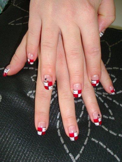 rouge et blanc pour orthense creation ongle 100 gel. Black Bedroom Furniture Sets. Home Design Ideas