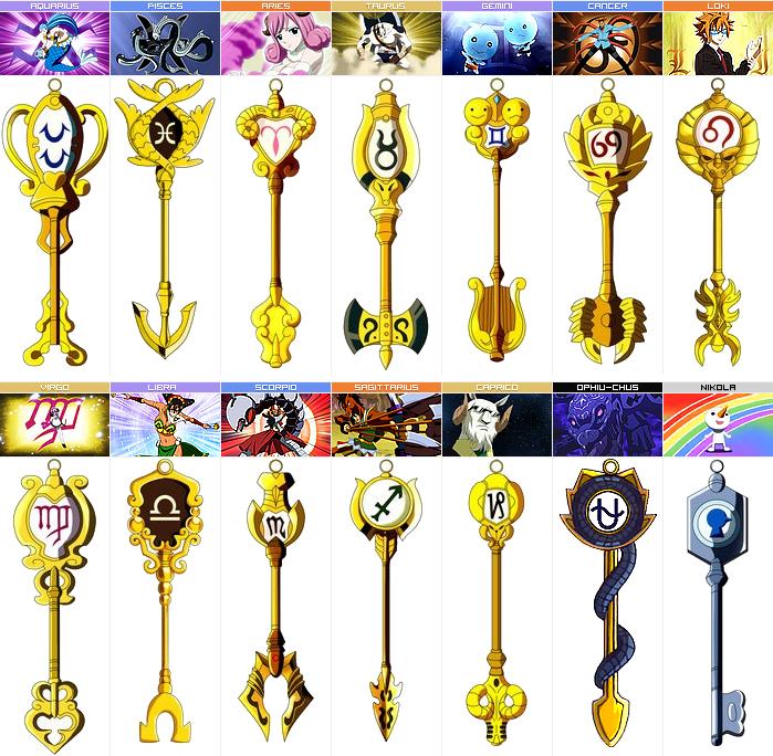 Fairy Tail : Clés céleste et clés d'or + Serpenter (Ophiu ...