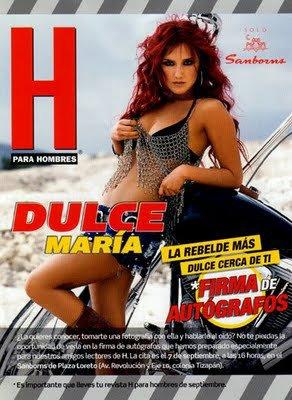 Veja as fotos de Dulce Mar�a em uma revista masculina mexicana