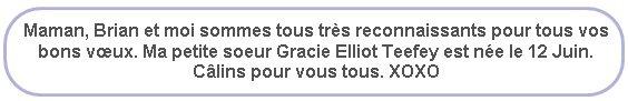 *   SELENA GOMEZ EST GRANDE SOEUR!       Hello Gracie Elliot Teefey ! :))) *