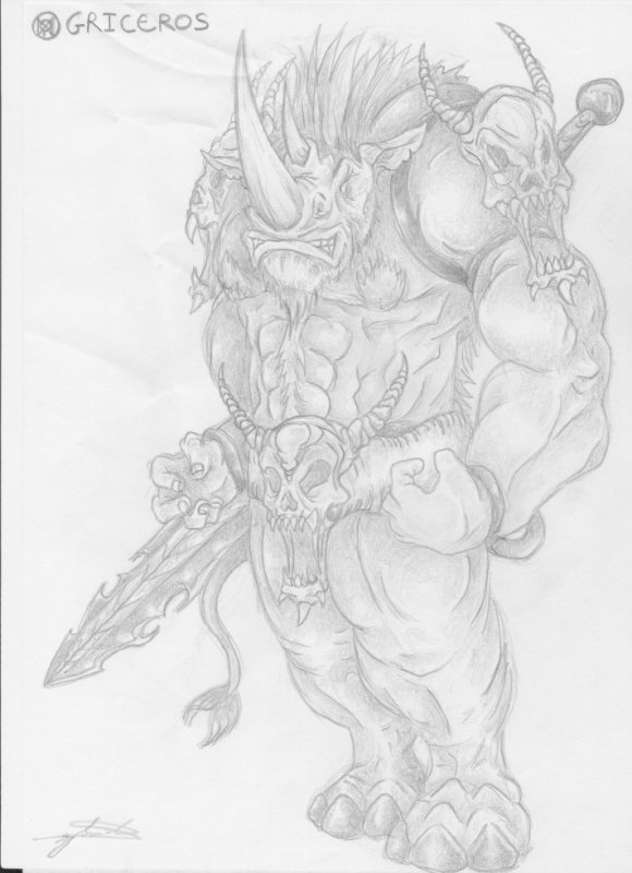 Articles de jeragorn tagg s hybride page 2 medieval fantastique artbeast - Dessin monstre facile ...