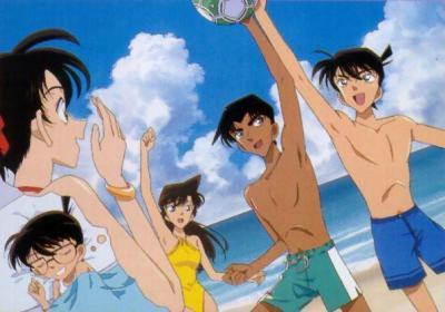 Shinichi Kudo, Heiji Hattori, Kazuha Toyama, Ran Mouri, and Conan ...