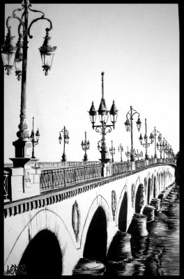 pont de pierre bordeaux mes dessins. Black Bedroom Furniture Sets. Home Design Ideas