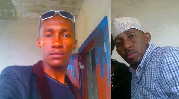 Voil� les deux violeurs p�dophiles ,  � gauche Nadjim Boina et � droite Mbechezi Mohamed Omar dit Omar Cheha