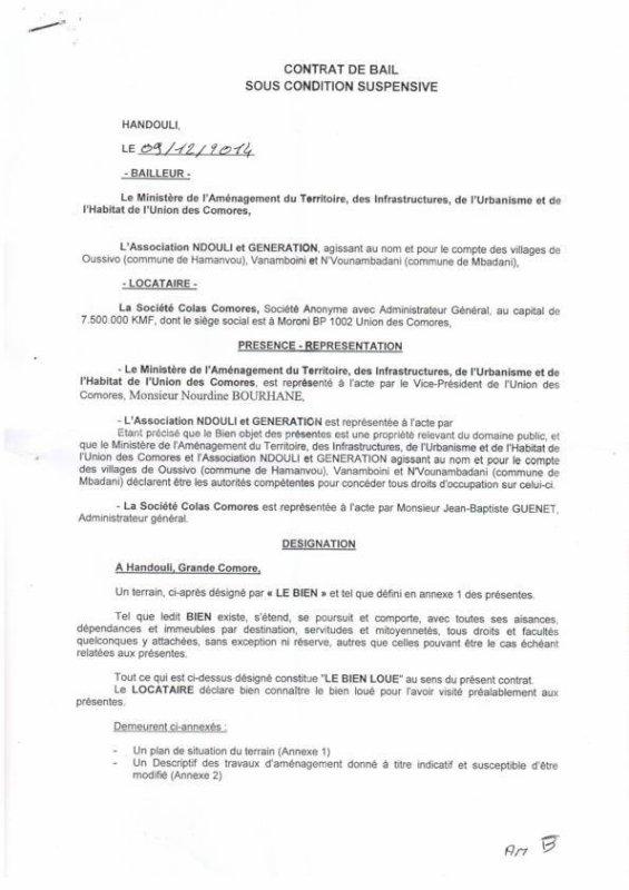 SOS - URGENT - COLAS AGIT sans CONTRAT au M�pris de la Loi sur le site de HANDULI (HANDOULI).