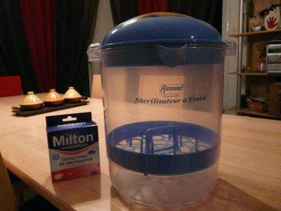Pastille stérilisation à froid