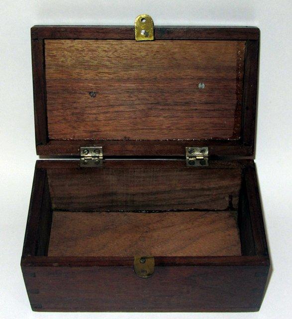 Ancienne boite a bijou couture plaque cuivre antique for Boite couture bois ancienne