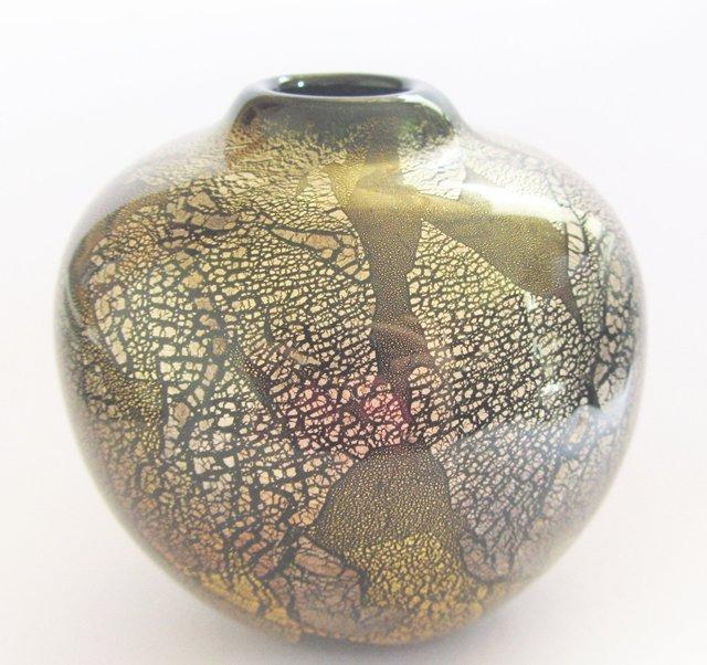 vase go t francois le lonquer verre contemporain noir. Black Bedroom Furniture Sets. Home Design Ideas