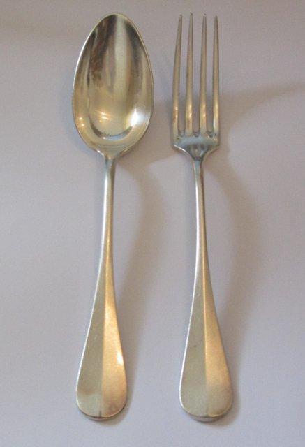 Christofle couverts de table fourchette et cuillere en for 1 cuillere a table