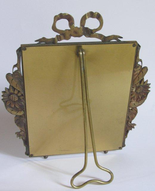 Ancien cadre porte photo peinture bronze art deco antique - Deco peinture porte interieure ...