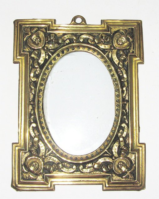Ancien cadre porte photo peinture laiton bronze xix antique french photo fram - Dimension cadre porte ...