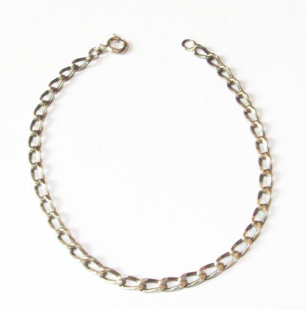 ancien bracelet gourmette en argent massif mailles solid silver bracelet ebay. Black Bedroom Furniture Sets. Home Design Ideas