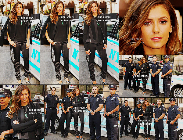 04/08/14 : � l'occasion  de la sortie de  � Let's Be Cops �, Nina s'est rendue au poste de police � Midtown Precinct