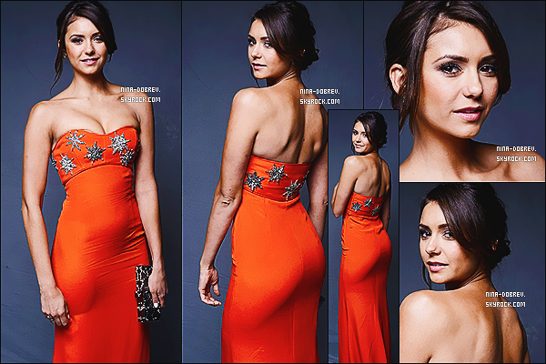 11/01/14  : Nina �tait au �  The Art of Elysium's 7th Annual Haeven Gala  �. qui s'est d�roul� � Los Angeles.                          N. port�e une robe orange sign� Emilio Pucci accompagn�e d'une pochette Rodo et des escarpins Rupert Sanderson. TOP ?