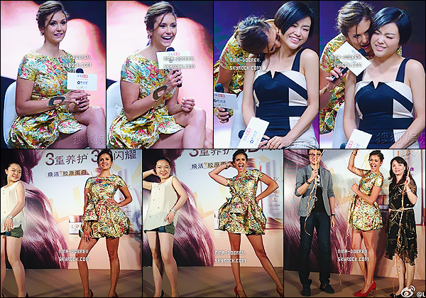 03/07/2014 : Actuellement en Chine, Nina Dobrev a assist�  �   l'�v�nement � LUX Shampoo Promotional �.