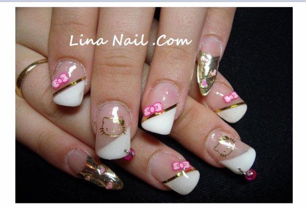 Nail Art Hello Kitty Fimo