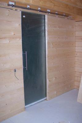 la cloison entre notre chambre et notre coin douche avec. Black Bedroom Furniture Sets. Home Design Ideas