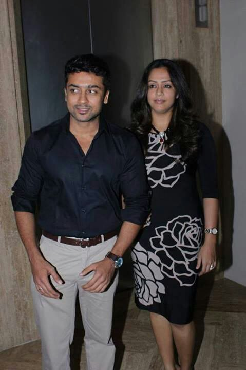 Surya and Jyothika at Vj Ramya's wedding!