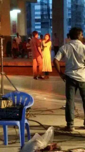 Surya and Nayanthara at Masss shooting spot