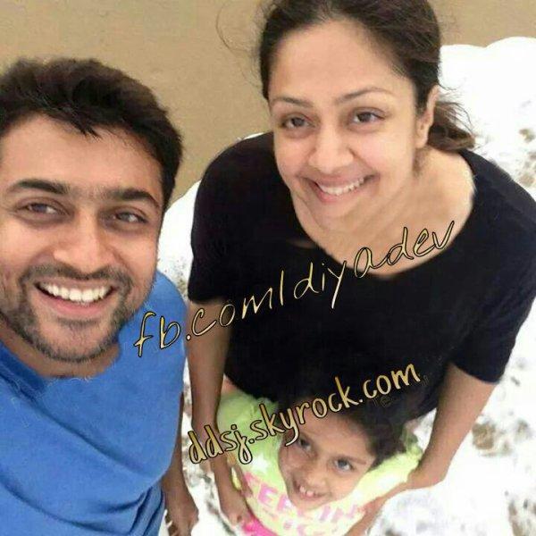 Surya and Jyothika with Diya - Rare/unseen